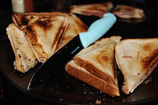 Slice of cream bread
